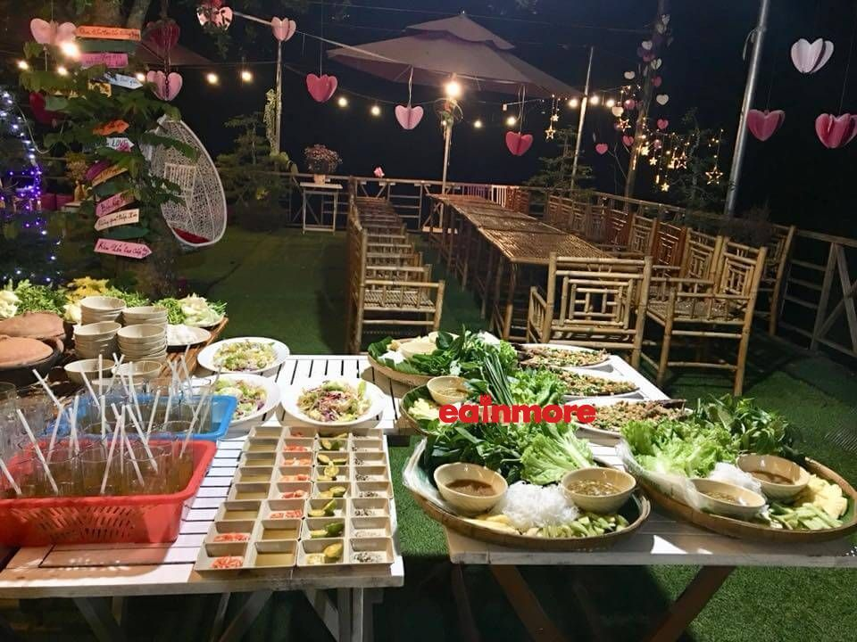 ve nha homestay ben tre buffet2